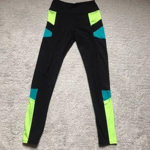 So Perfect Black/Neon Leggings Size S
